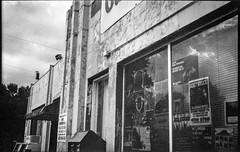 Gas Up services station, architectural forms and movements, near dusk, Heywood Road, West Asheville, NC, Ercona II, Fomapan 200, Ilford Ilfosol 3 developer, 7.4.18 (steve aimone) Tags: gasup servicestation gasstation architecutre architecturalforms windows reflections neardusk heywoodroad westasheville northcarolina erconaii erconaii105mmf35 folder fomapan200 ilfordilfosol3developer 6x9 mediumformat 120 120film film blackandwhite monochrome monochromatic