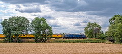 West Langton (Peter Leigh50) Tags: class 37 376 west landscape langton fujifilm fuji field farmland locomotive diesel train railway railroad rural rail countryside sky cloud trees xt2