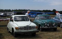 1979 Saab 96 L V4 & 1963 Saab 96 (rvandermaar) Tags: 1979 saab 96 l v4 1963 saab96 fl26zz sidecode4 sidecode1 mr1787