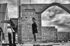 Girl in a Building (Rod Waddington) Tags: africa african afrique afrika madagascar malagasy girl building construction outdoor blackandwhite monochrome mono culture cultural ethnic ethnicity