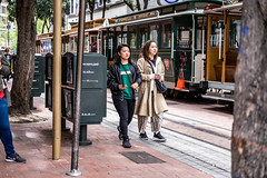 San Francisco 2018 (burnt dirt) Tags: sanfrancisco california vacation town city street road sidewalk crossing streetcar cablecar tree building store restaurant people person girl woman man couple group lovers friends family holdinghands candid documentary streetphotography turnaround portrait fujifilm xt1 color laugh smile young old asian latina white european europe korean chinese thai dress skirt denim shorts boots heels leather tights leggings yogapants shorthair longhair cellphone glasses sunglasses blonde brunette redhead tattoo pretty beautiful selfie fashion japanese green stripe brown blue