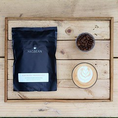 New season, new blend ☕️ this freshly medium roasted beauty from @hasbean is 70% Nicaragua Finca Limoncillo natural bourbon and 30% El Salvador Finca Argentina natural bourbon 👌 Notes of dark chocolate, plum and dried currants 😋 availabl (bombompatisserie) Tags: loughborough cake cafe bom patisserie