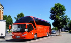 Edwards Red Dragon. (Woolfie Hills) Tags: ml13 xob edwards coaches neoplan swansea