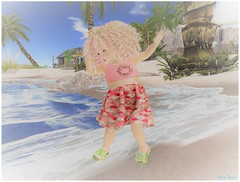 Roses At The Shore (Sye Rose) Tags: afrobaby dorks thecove event ninetynine avatar secondlife sl chid kid td toddleedoo ad