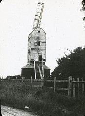H002146 Old mill, Westfield (East Sussex Libraries Historical Photos) Tags: westfield mill windmill sails architecture wood fence steps
