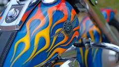 Veterans Ride (Tim @ Photovisions) Tags: closeup bike harley gastank flames motorcycle custom nebraska veteransride tecumseh tecumsehnebraska harleydavidson
