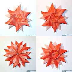 Collage Fantasy Star 3 (AnkaAlex) Tags: paperfolding papercraft paper paperfoldingart star origamistar origamidecoration josémeeusen modulorigami modul
