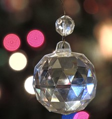 Sparkles (clarkcg photography) Tags: ornament accent ball faucets triangular light reflect wire hang bokeh macro sparkle macrofriday macromademoiselle
