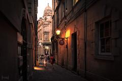 Exchange Avenue, Bristol, UK (KSAG Photography) Tags: clock architecture street streetphotography history heritage bristol uk unitedkingdom europe england britain nikon night nightphotography city urban june 2018