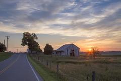 Sunset Road (player_pleasure) Tags: sunset rural ruraldecay farm farming