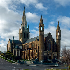 Sacred Heart Cathedral, Bendigo (justjimwilldo) Tags: church cathedral romancatholic bendigo christian architecture building tower spire bells