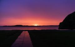 Goodbye (P1n24) Tags: sunset evening colors sky shadow calm sony a7ii 2470gm 24mm burning water lake grass strange geometric horizontal landscape