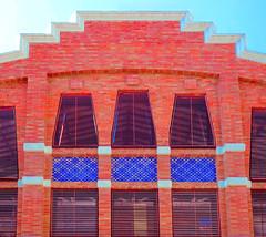 Modernist building (chrisk8800) Tags: architecture building modernism facade bricks windows grids tiles barcelona