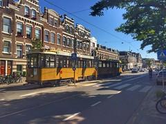 Old RET tram (sander_sloots) Tags: ret vierasser aanhanger tram rotterdam bergweg road tree weg boom tramway strasenbahn