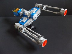 NCS Y-Wing (SaurianSpacer) Tags: lego moc spaceship ywing neoclassicspace classicspace