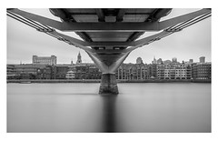 Reverse (Robgreen13) Tags: london milleniumbridge southbank riverthames cityoflondon underside bridge architecture longexposure bw mono