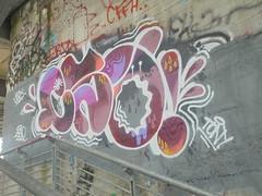 1482 (en-ri) Tags: lea tony cso viola lilla bianco grigio gocce parco dora torino wall muro graffiti writing
