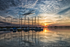 Sunset on the Mandichosee (Friedels Foto Freuden) Tags: sunset clouds himmel sonnenuntergang mandichosee spiegelung boote