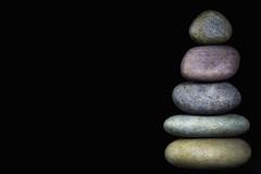 Five Stone Cairn (KellarW) Tags: stone colorfulstonesfive macro colorful 5 harmony fivestones cairn riverstone balance isolatednature riverstones isolated meditate stones meditation