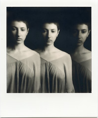 L. (denzzz) Tags: portrait polaroid 600bw impossibleproject polaroidoriginals analogphotography filmphotography instantfilm slr680 blackwhite blackandwhite skancheli