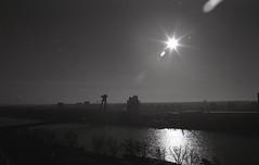Bratislava bridge (Nikol Dziub) Tags: pentax p30t agfa apx100 aph09 bratislava bw analog landscape blackandwhite