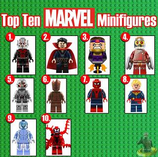 Top Ten Marvel Minifigures