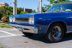 Plymouth Satellite Sport 3 (Kenjis9965) Tags: plymoth mopar satellite sport antique car 1968 blue color sonya7iii sony a7 mark iii sonnar5518za carl zeiss sonnar 55mm f18 za sonnartfe1855 parked parking lot highway plymouth