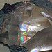 Calcite with two-beam interference colors & native copper (late Mesoproterozoic mineralization age, 1.05-1.06 Ga; Upper Peninsula of Michigan, USA) 1