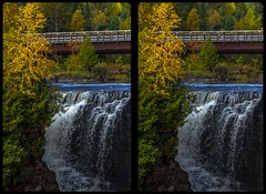 Kakabeka Falls in fall 3-D / CrossView / Stereoscopy / HDR / Raw (Stereotron) Tags: north america canada province ontario indiansummer autumn fall waterfall cascade cataract falls river forest woods outback backcountry wilderness kakabeka cross eye view xview crosseye pair free sidebyside sbs kreuzblick bildpaar 3d photo image stereo spatial stereophoto stereophotography stereoscopic stereoscopy stereotron threedimensional stereoview stereophotomaker photography picture raumbild hyperstereo twin canon eos 550d remote control synchron kitlens 1855mm 100v10f tonemapping hdr hdri raw