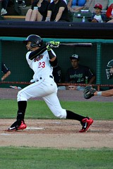 BASE HIT (MIKECNY) Tags: hit hitter swing nypennleague minorleague tricityvalleycats astros