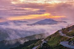 合歡山 昆陽夕陽 (張麗芬) Tags: taiwan 南投縣 仁愛鄉 合歡山 昆陽 風景 夕陽 雲海 公路 雲彩 山