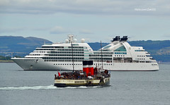 Seabourn Quest & Waverley (Zak355) Tags: seabournquest cruise ship boat vessel shipping rothesay isleofbute bute scotland scottish tour holiday riverclyde pswaverley paddlesteamer waverly