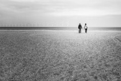 Sustainable (MacCabri) Tags: energy blackandwhite blackwhite bw monochrome beach sand sky people horizon
