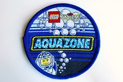 Aquazone woven patch (BF Bricks) Tags: lego ephemera collectible patch sew embroidered 80s 90s