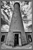 Ardnamurchan Lighthouse (coldnebraskablue) Tags: ardnamurchanlighthouse lochaber scotland listed granite egyptianstyle blackandwhite bw monochrome ultrawide 19thcentury tower cloud westhighlands alanstevenson 1024 nikon d7100 fortwilliam gate stone wideangle