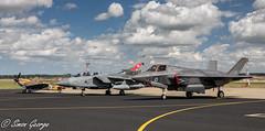 Marham June-2018-11 (simon_x_george) Tags: 2018rafmarham 2018 raf marham aviation military f35 f35b 617sqn lockheed panavia tornado gr4 spitfire bbmf