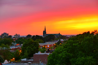 Really Nice Sunset from a Villeray Neighbouhood Roof - Montreal