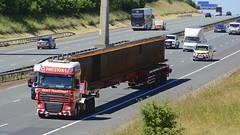 NX60 EFG (panmanstan) Tags: daf xf wagon truck lorry commercial heavy haulage freight transport vehicle a1m motorway fairburn yorkshire
