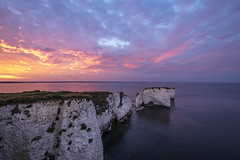 Old Harry Rocks Sunset (AshMashMash) Tags: dorset old harry rocks beach coast sunset sunrise time lapse timelapse sky clouds 10mm cliff