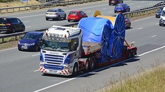 DSR 36026 (panmanstan) Tags: scania r500 wagon truck lorry commercial heavy haulage freight lowloader transport vehicle a1m motorway fairburn yorkshire