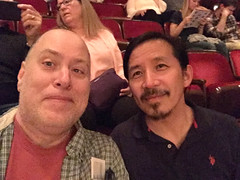 Day 2346: Day 156: With David (knoopie) Tags: 2018 june iphone picturemail doug knoop knoopie me selfportrait 365days 365daysyear7 year7 365more day2346 day156 5thavenuetheatre thehunchbackofnotredame friend david