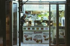 Ektachrome nightcrawlers 4: exasperated gaze (NYC Macroscopist) Tags: latenight nyc street midtown newyork tired fastfood streetfood manhattan ektachrome film vintage analog leica e6 slidefilm lowlight lowiso retrochrome160 nightcrawlers