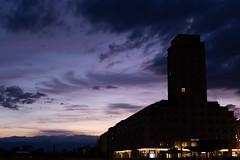La tour Bel-Air en ombre chinoise (esseiva.patrick) Tags: 7dmark2 ef35mmf2 dégradé couchédesoleil vaud tourbelair eos 35mm canon lausanne