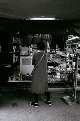 The Markets, Hong Kong (James Banko Photography) Tags: market hongkong blackandwhite blackwhite sonya7 streetphotography streetphotographer street sony outdoors minolta melbournephotographer manual manualfocus minimal