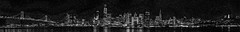 monocrome 14,000 image skyline mosaic (pbo31) Tags: sanfrancisco california monocrome blackandwhite skyline city urban july 2018 boury pbo31 nikon d810 panoramic large stitched panorama mosaic baybridge salesforce treasureisland black night dark transamerica embarcadero center bay reflection