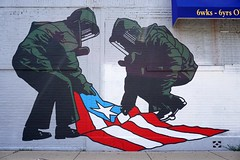 Military Puerto Rico (drew*in*chicago) Tags: chicago 2018 street art artist tag mural paint painter