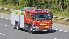 YN18 XYW (panmanstan) Tags: scania p280 fire engine vehicle emergency rescue m18 motorway langham yorkshire