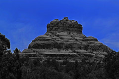 Sedona Vortex (oybay©) Tags: monsoon summer clouds sky surreal az arizona sedona trail hiking landscape vista photograph photographer photography red rocks united states outdoor rock formation mountain hill sunset view colors lights town vortex cliffs formations streets pink purple blue uwb cloudy night monochrome
