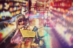Supermarket Adventure ~ (Dekki) Tags: pudding pullip kit mio mocha asian fashion doll groove jun planning rewigged rechipped custom