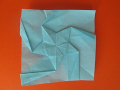 Omer Shalev's 5-Point Twist Star with Stripes (georigami) Tags: origami papiroflexia paper papel